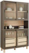 Vitrine in Eichefarben - Dunkelgrau/Eichefarben, MODERN, Glas/Holzwerkstoff (120/206/40cm) - Mömax modern living
