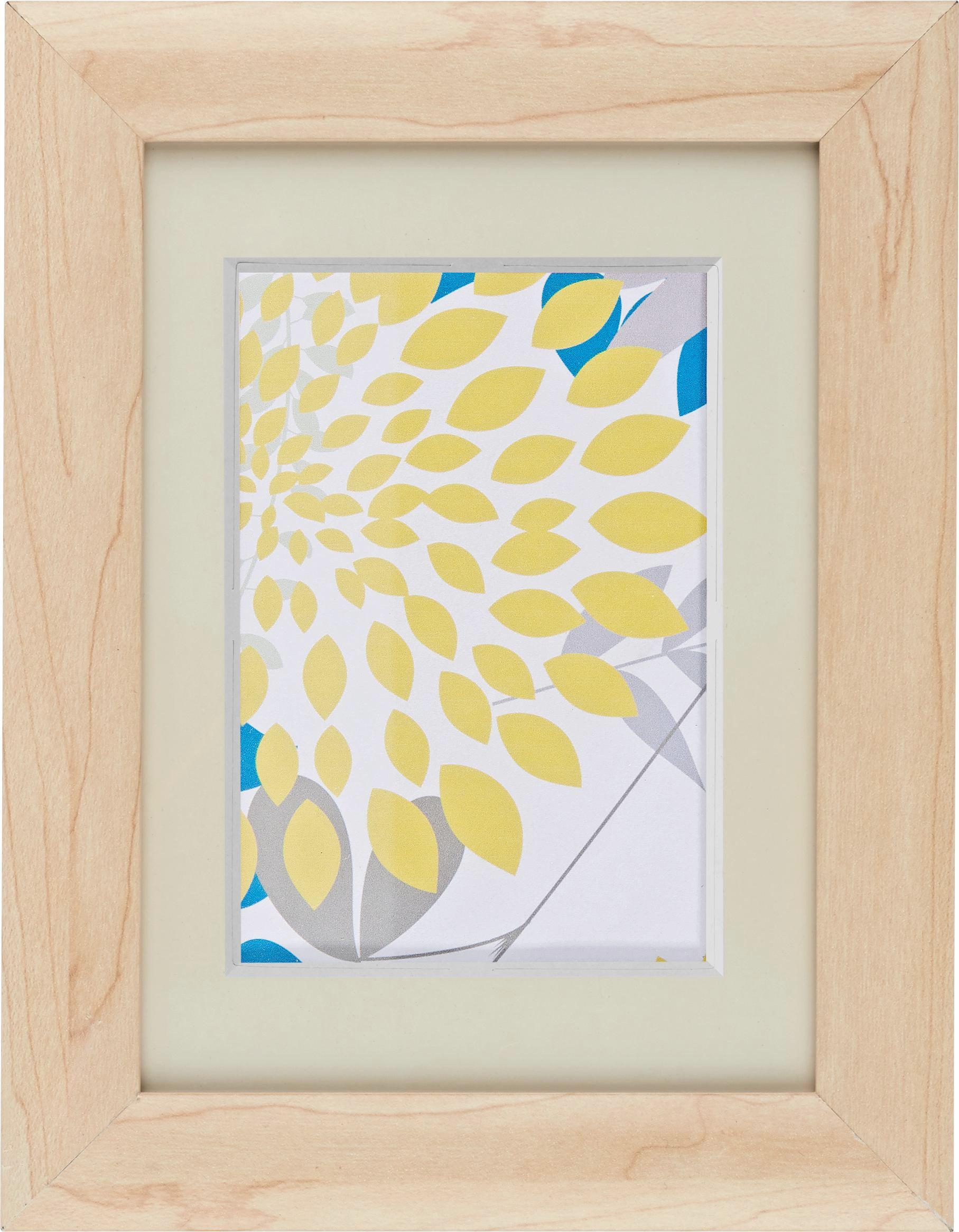 Bilderrahmen Anna, ca. 13x18cm aus Holz - Naturfarben, ROMANTIK / LANDHAUS, Glas/Holz (13/18cm) - MÖMAX modern living