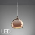 Led Hängeleuchte Roy - Goldfarben/Kupferfarben, MODERN, Kunststoff/Metall (25/25/120cm) - Premium Living
