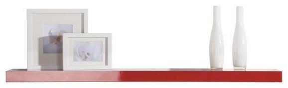 Stenska Polica Space - rdeča, Trendi, leseni material (110/4,4/26cm) - BASED
