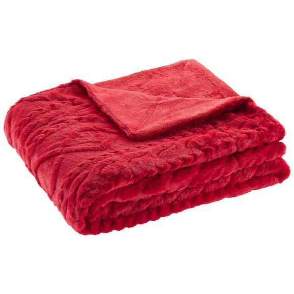 Decke Anna in Rot ca. 130x170cm - Rot, Textil (130/170cm) - Mömax modern living