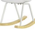 Kinder-schaukelstuhl Bobby - Weiß, MODERN, Holz/Kunststoff (41,5/60/54cm) - Mömax modern living