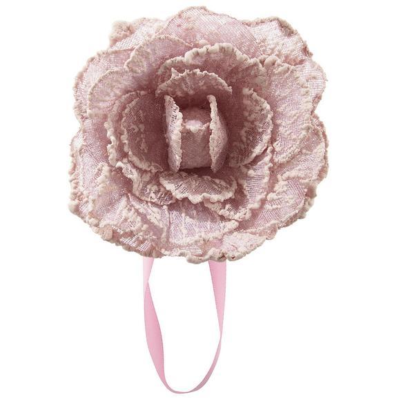 Raffhalter Rose in Rosa - Rosa, ROMANTIK / LANDHAUS, Textil (11cm) - Mömax modern living
