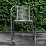 Stapelstuhl Bruna Hellgrau - Hellgrau/Schwarz, MODERN, Kunststoff/Metall (52/76/55cm) - Modern Living