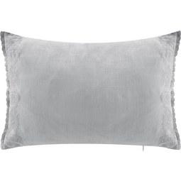 Kissen in Grau 'Melina' ca. 40x60cm - Grau, ROMANTIK / LANDHAUS, Textil (40/60cm) - Bessagi Home