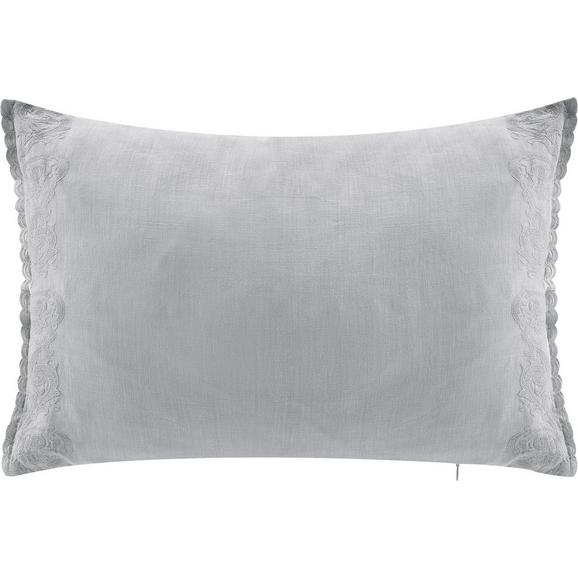 Kissen in Grau 'Meline' ca. 40x60cm - Grau, ROMANTIK / LANDHAUS, Textil (40/60cm) - Bessagi Home