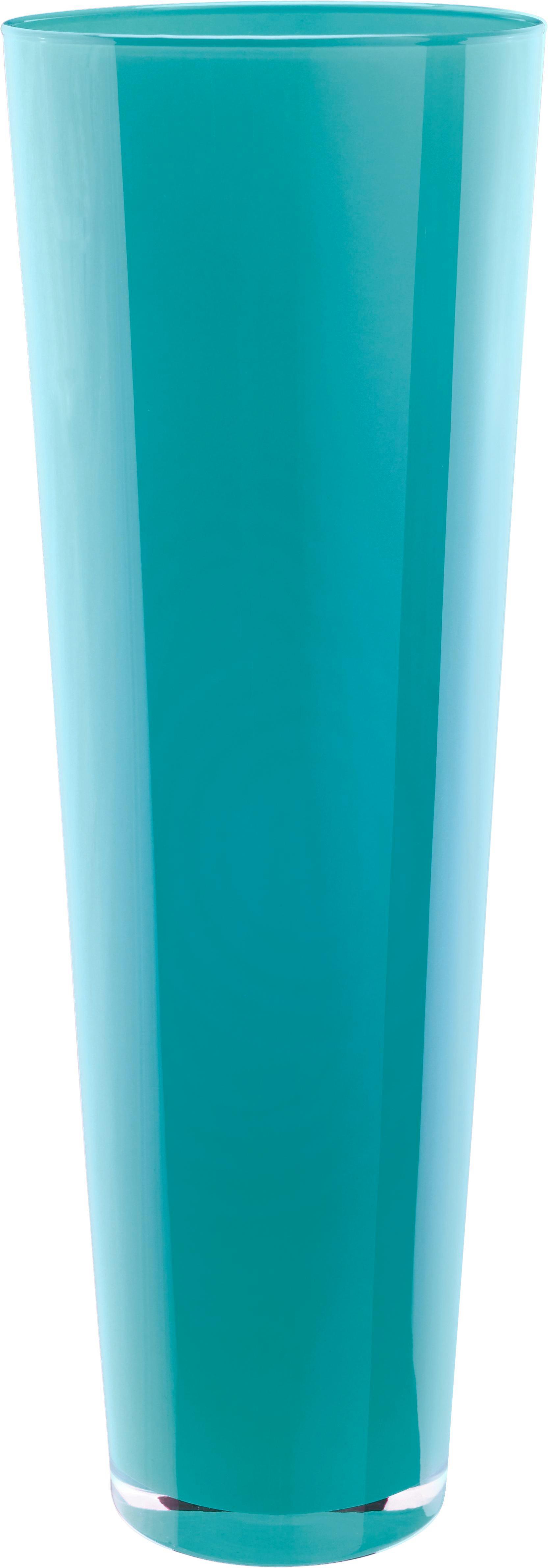 Váza Loretta - türkiz/fehér, konvencionális, üveg (17/50cm) - MÖMAX modern living