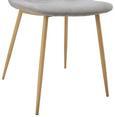 Stuhl Antonia - Grau/Teakfarben, MODERN, Holz/Textil (44/86/54cm) - Mömax modern living