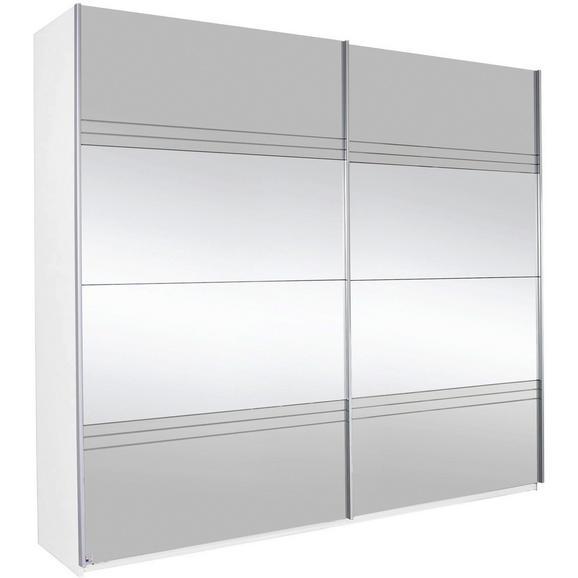Omara Z Drsnimi Vrati Koblenz - siva/bela, Konvencionalno, leseni material (226/210/62cm) - Premium Living