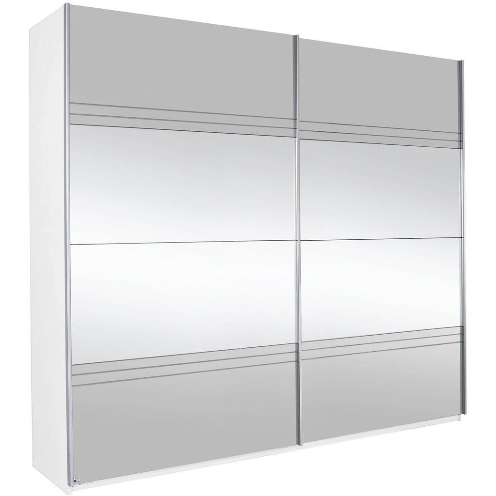 Schwebetürenschrank in Grauspiegel mit Spiegel