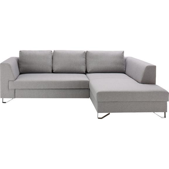 Sedežna Garnitura Mohito - srebrna/svetlo siva, Moderno, tekstil (280/196cm) - Modern Living
