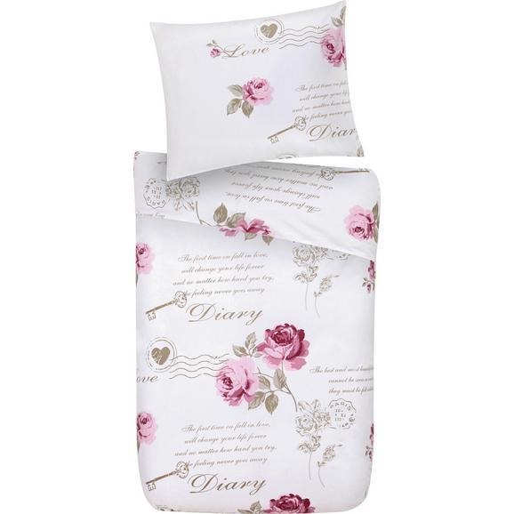 Lenjerie Pentru Pat Diary Rose - alb, Romantik / Landhaus, textil - Modern Living