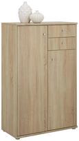 Highboard Eichefarben - Eichefarben/Alufarben, MODERN, Holzwerkstoff/Kunststoff (72/111/34cm)