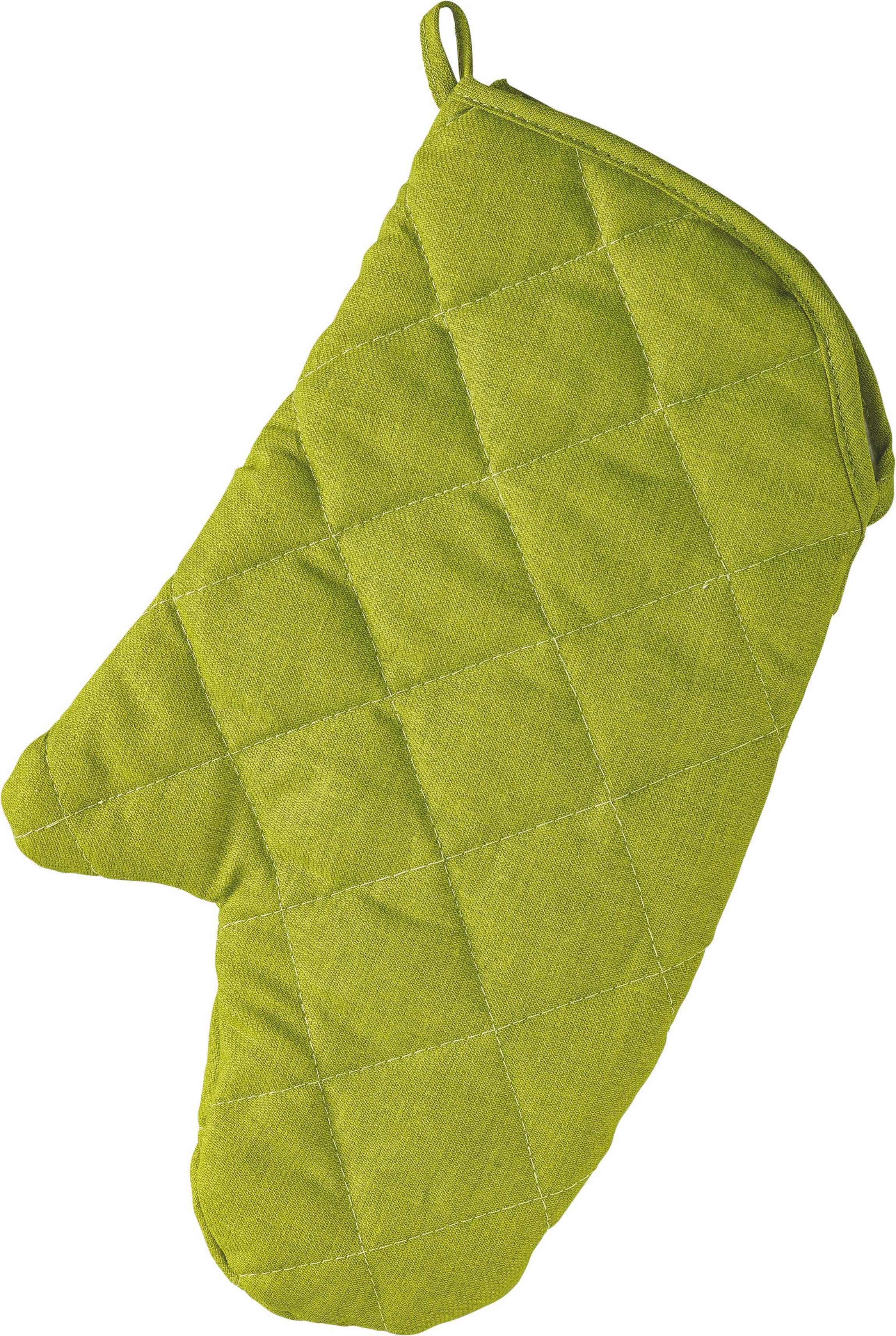 Edényfogó Kesztyű Evelin - zöld, textil (19/30cm) - MÖMAX modern living