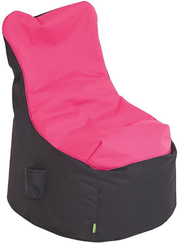 Sitzsack in Rosa/anthrazit - Anthrazit/Rosa, Textil (65/100/88cm) - MODERN LIVING