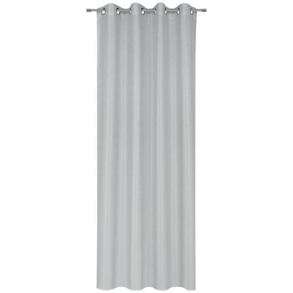 Ösenvorhang Iceland in Silber - Silberfarben, Textil (140/245cm) - Mömax modern living