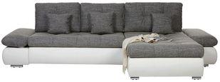 Kotna Sedežna Garnitura Enrico - siva/črna, Moderno, kovina/umetna masa (303/88/185cm) - Mömax modern living