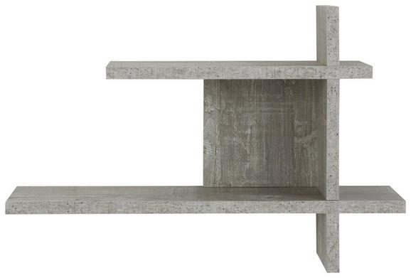 Wandregal in Betonoptik - MODERN, Holzwerkstoff (60/40/17cm) - MÖMAX modern living