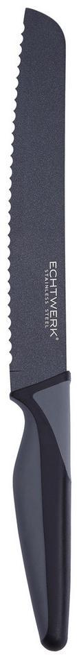 Echtwerk Brotmesser Blacksteel - Schwarz, MODERN, Kunststoff/Metall (32,5cm) - Echtwerk