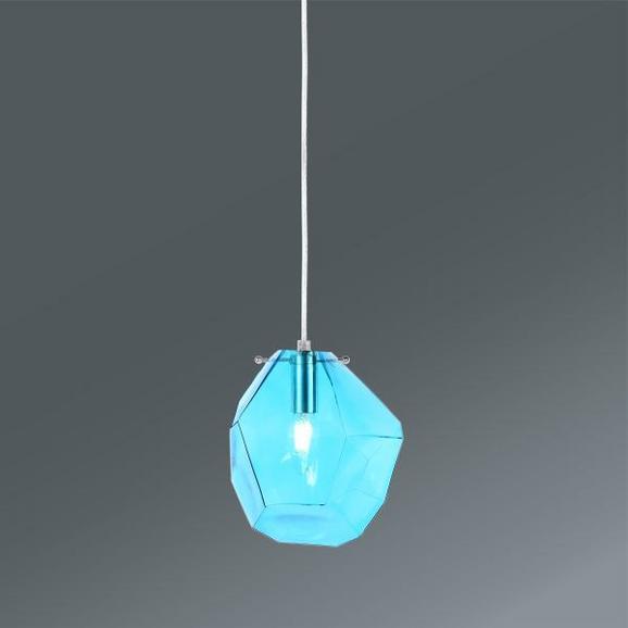 Hängeleuchte Amira, max. 40 Watt - Blau, MODERN, Glas/Metall (21/18/120cm) - MÖMAX modern living