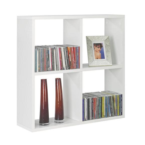 Etajeră Suspendată 'alex' - alb, Modern, compozit lemnos (60/60/18cm)