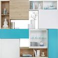 Viseča Omara Match Turkizna - svetlo modra, Moderno, leseni material (90/30/34cm) - Mömax modern living