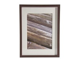 Bilderrahmen Gitta ca. 30x40cm aus Holz - Wengefarben, MODERN, Glas/Holz (30/40cm) - Mömax modern living