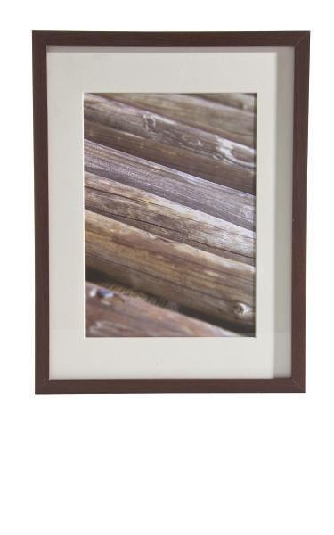 Bilderrahmen Gitta, ca. 30x40cm aus Holz - Wengefarben, MODERN, Glas/Holz (30/40cm) - Mömax modern living