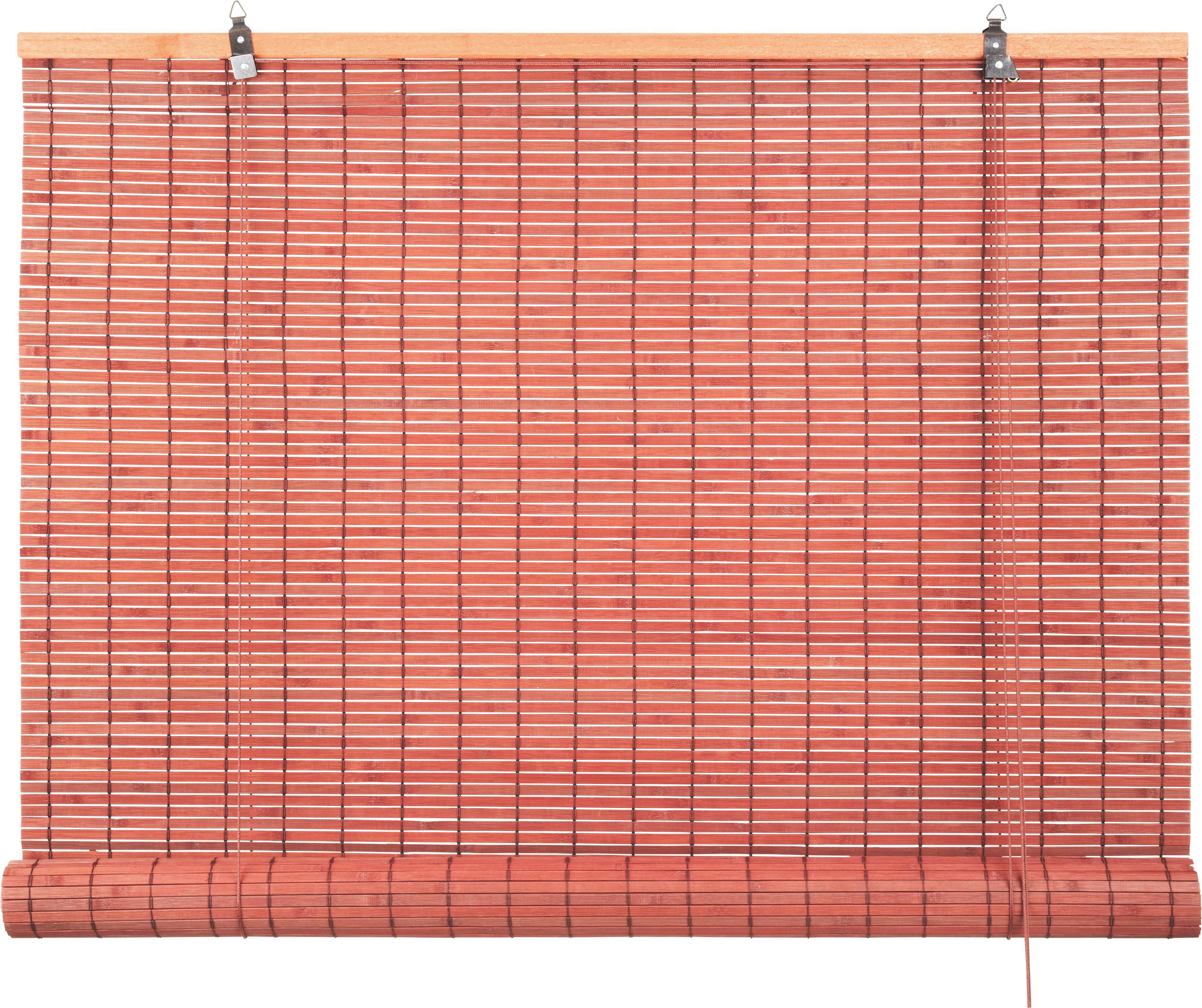 Rollo Woody in Braun, ca. 100x180cm - Dunkelbraun, LIFESTYLE, Holz (100/180cm) - MÖMAX modern living