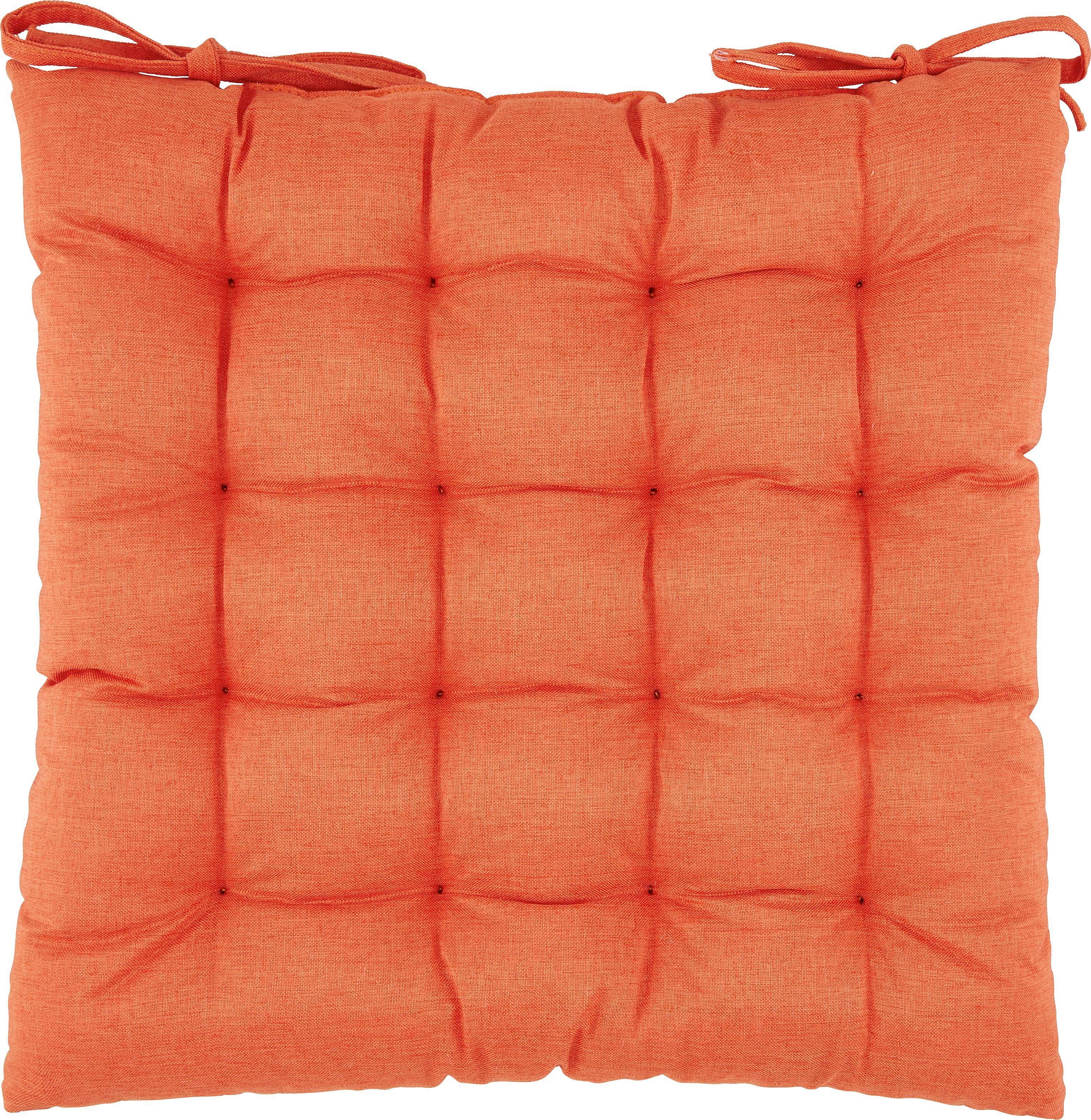 Sitzkissen Nora in Orange, ca. 38x38x5cm - Orange, MODERN, Textil (38/38/5cm) - MÖMAX modern living