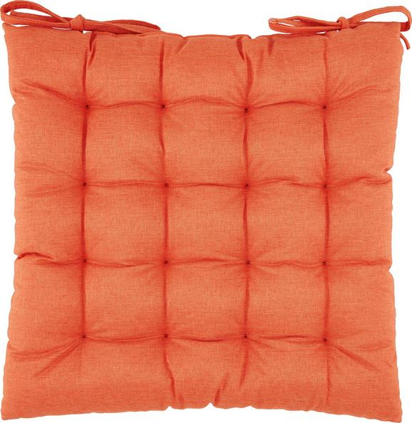 Sitzkissen Nora in Orange, ca. 38x38x5cm - Orange, MODERN, Textil (38/38/5cm) - MÖMAX modern living