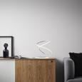 LED-Tischleuchte max. 18 Watt 'Reggie' - Silberfarben/Weiß, MODERN, Kunststoff/Metall (26/26/35cm) - Bessagi Home