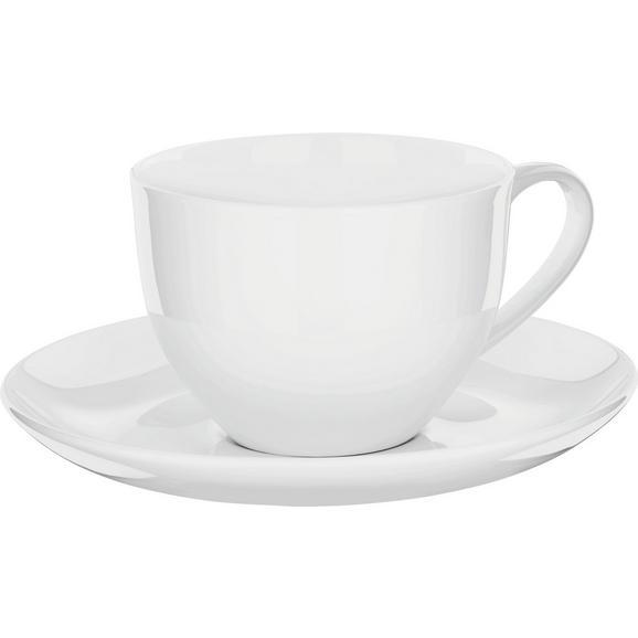 Kaffeetasse mit Untertasse Bonnie aus Keramik ca. 280ml - Weiß, MODERN, Keramik (0,28l) - Mömax modern living