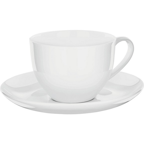 kaffeetasse mit untertasse bonnie in wei online kaufen m max. Black Bedroom Furniture Sets. Home Design Ideas