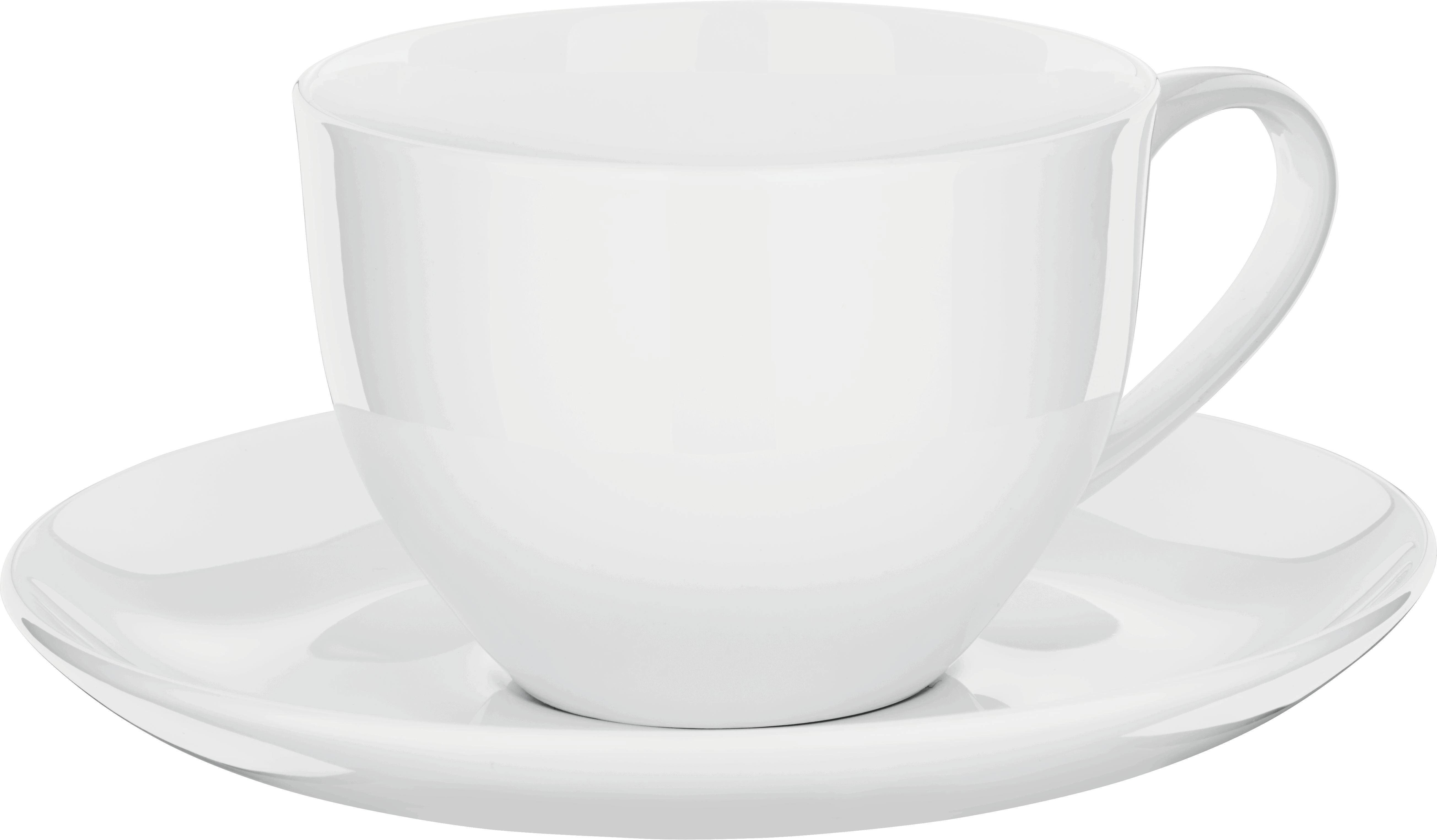 Kávéscsésze Alátéttel Bonnie - fehér, modern, kerámia (0,28l) - MÖMAX modern living