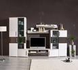 Blumensäule Weiß - Klar/Weiß, Glas/Holzwerkstoff (25/60/25cm) - Mömax modern living