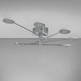 Deckenleuchte Luxury mit Led 5-flammig - Chromfarben/Silberfarben, MODERN, Kunststoff/Metall (140/140/18,5cm) - Mömax modern living