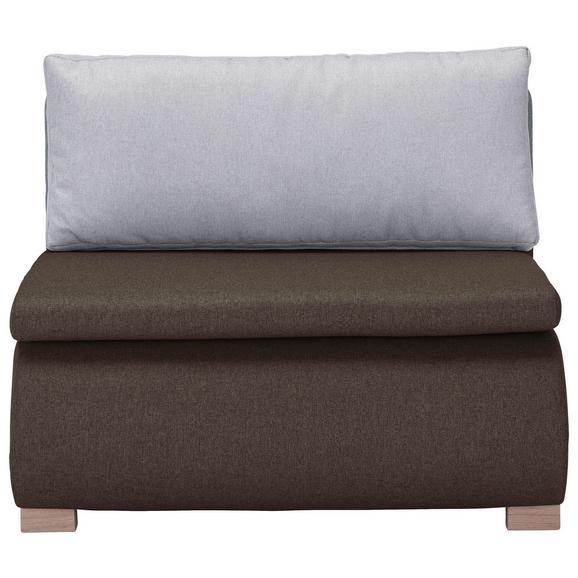 Schlafsessel in Braun mit Rückenkissen - Braun, KONVENTIONELL, Holz/Kunststoff (100/80/100-193cm) - Modern Living