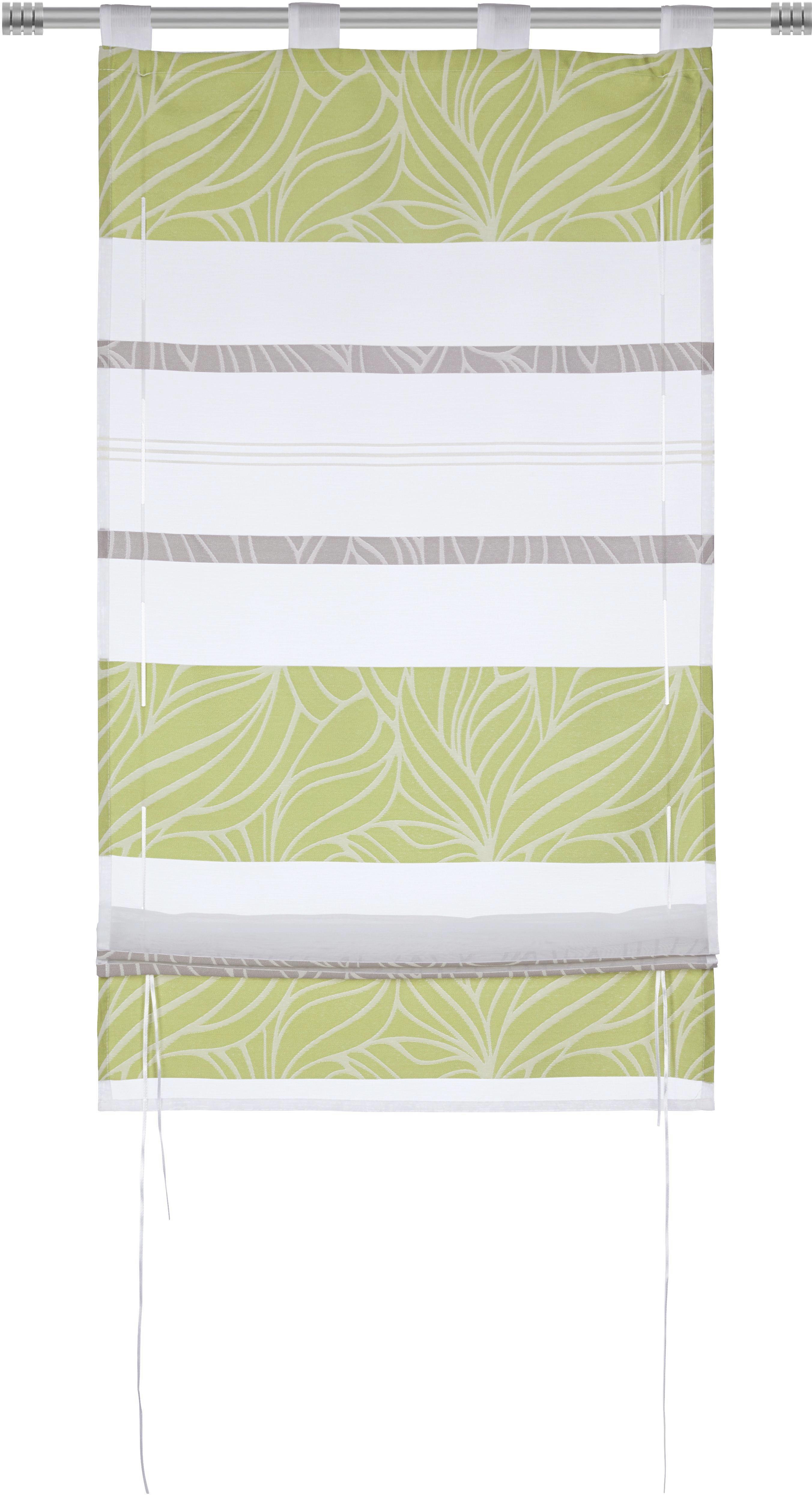 Bändchenrollo Anita, ca. 80x140cm - Grün, KONVENTIONELL, Textil (80/140cm) - MÖMAX modern living