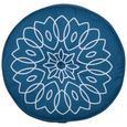 Párna Lata Yoga - Sárga/Olajkék, Textil (40cm) - Mömax modern living