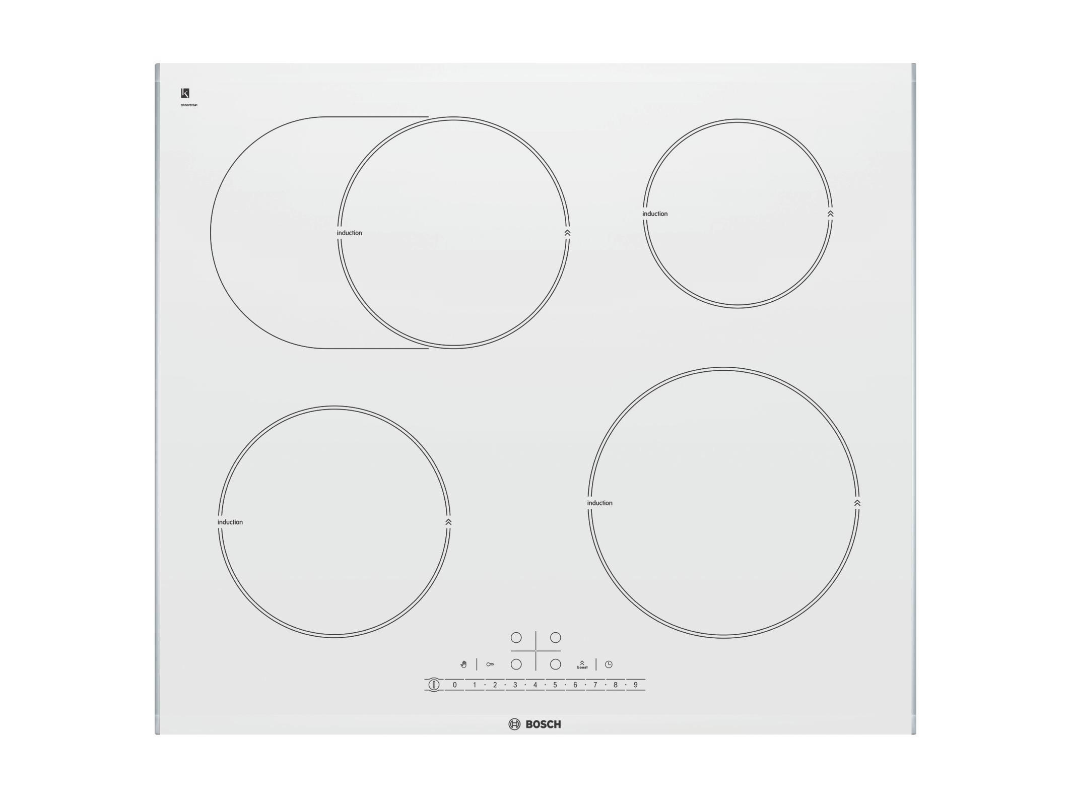 Induktionskochfeld Bosch Pib672f17e, 4 Kochzonen - KONVENTIONELL, Glas/Metall (60,6/5,1/52,7cm) - BOSCH
