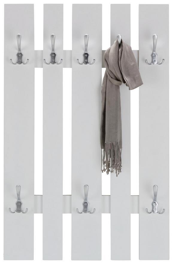 Wandgarderobe in Weiß - Weiß, MODERN, Holzwerkstoff (65/100/9cm) - MÖMAX modern living