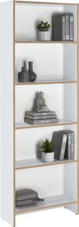 Regal Weiß mit 5 Fächer - Weiß, MODERN, Holzwerkstoff (60/175/24cm) - Mömax modern living