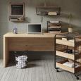 Wandregal Braun/Schwarz - Schwarz/Naturfarben, MODERN, Holz/Metall (63,5/22/20cm) - Modern Living