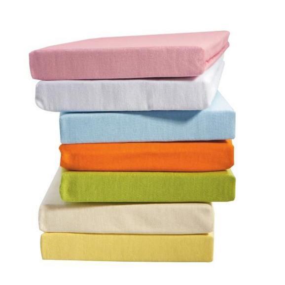 Spannbetttuch Jersey in verschiedenen Farben - Blau/Lila, Textil (70/140cm) - Based