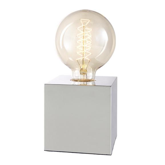 Veioză Eni - culoare crom, Modern, plastic/metal (10/10/10cm) - Mömax modern living