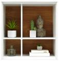 Stenska Polica Arizona - bela, Moderno, leseni material (60/63/32cm) - Premium Living