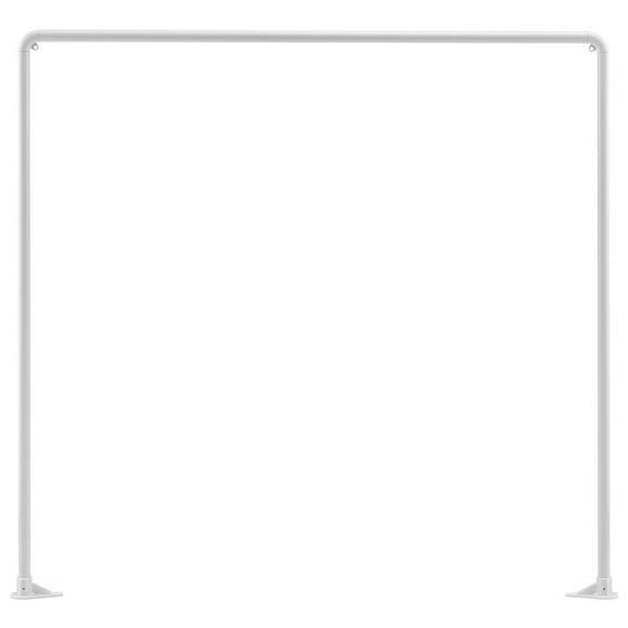 Duschvorhangstange Hilde in Weiß - Weiß, KONVENTIONELL, Metall (91cm)