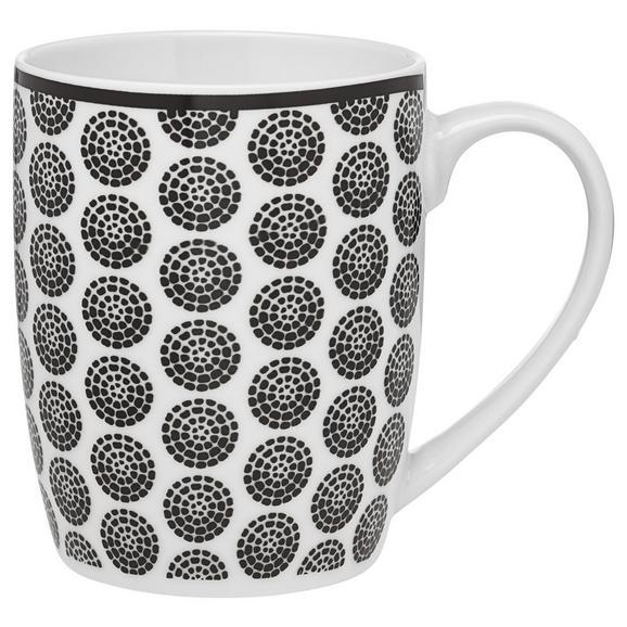 Kaffeebecher Shiva in verschiedenen Motiven - Schwarz/Weiß, LIFESTYLE, Keramik (8,5/10,5cm) - Mömax modern living