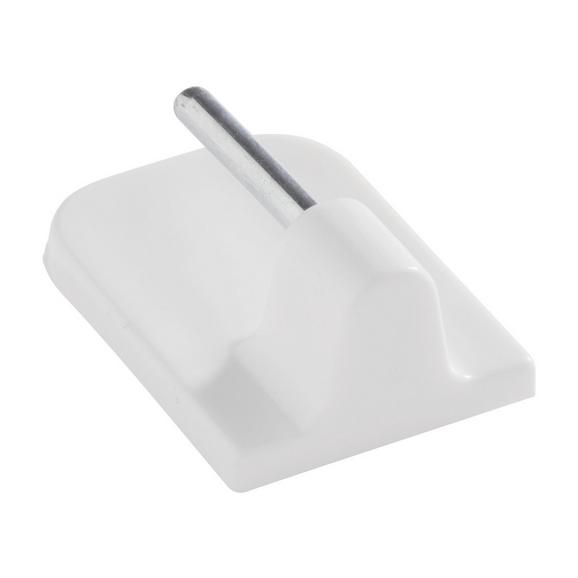 Selbstklebehaken Kurt Weiß, 4er Set - Weiß, Kunststoff (1/2.3cm) - Mömax modern living